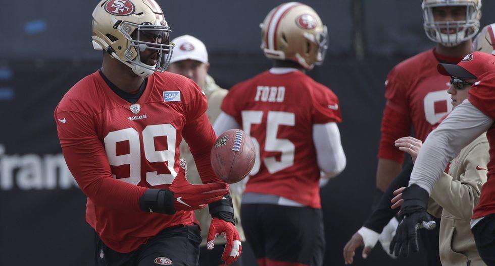 San Francisco 49ers | DeForest Buckner (camiseta 99): Salario anual aproximado de US$ 14'360,000. Posición: Defensive Tackle. (Foto: AP)