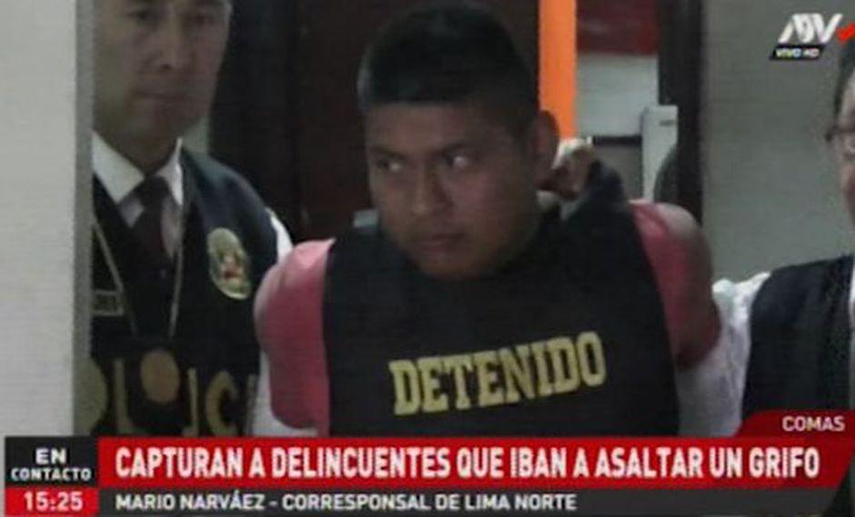 Los agentes de la Depincri de San Martín de Porres capturaron a Erick Alexander Galindo Tongo (22) y Jesús Flores Silva (24). (ATV+)