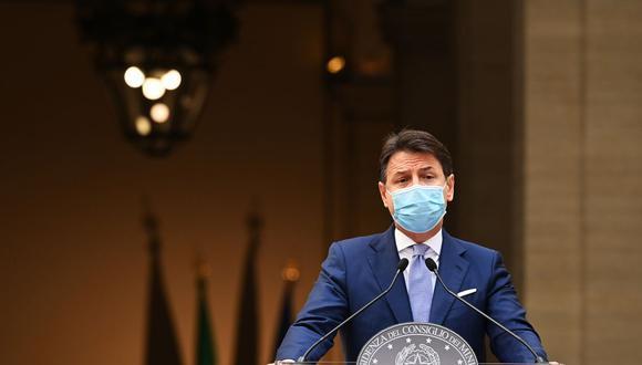 El primer ministro de Italia Giuseppe Conte. (Foto: Vincenzo PINTO / AFP).