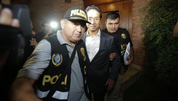 El ex candidato a la vicepresidencia de Fuerza Popular, Jaime Yoshiyama, debería ser trasladado del penal Castro Castro, según el Ministerio Público. (Foto: GEC)