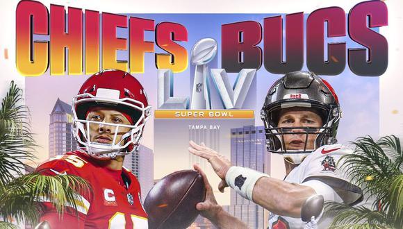 Los Chief buscarán su segundo título de la mano de Mahomes, el tercero en su historia. Solo Brady va por su séptimo anillo con los Bucs, que han ganado solo una vez. (Foto: NFL)
