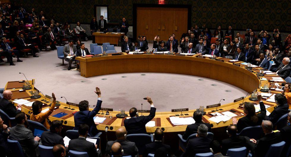 Consejo de Seguridad de la ONU: vetan resoluciones de Estados Unidos y Rusia sobre Venezuela. (AFP).