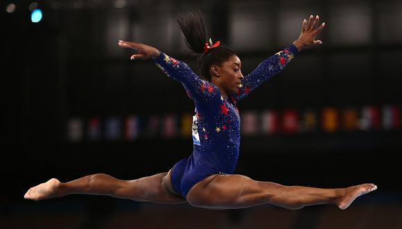 Simone Biles clasificó a las finales de gimnasia artística en Tokio 2020. (Foto: AFP)