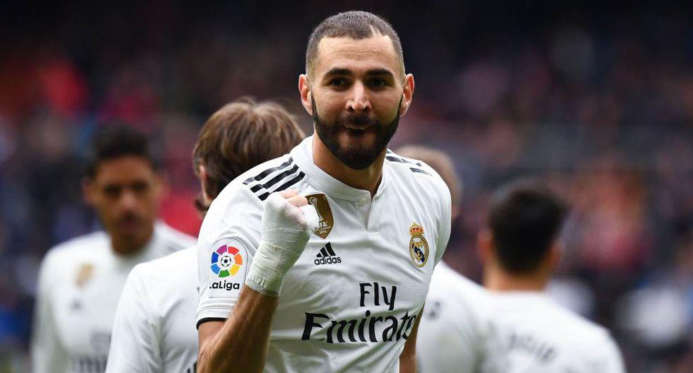 Karim Benzema fue la única novedad en el entrenamiento de Real Madrid. (Foto: AFP)