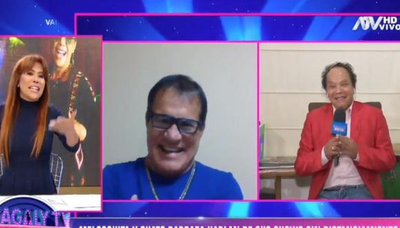 Miguel 'Chato' Barraza y 'Melcochita' se disculpan por show con público en Rústica. (Foto: Captura ATV)