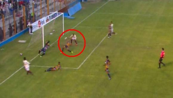 Universitario vs. Sport Rosario: Daniel Chávez erró increíble opción de gol. (Foto: Captura de pantalla)