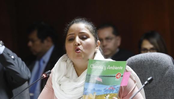Congresista Tamar Arimborgo fue elegida por Fuerza Popular para presidir la Comisión de Educación (Foto: GEC)