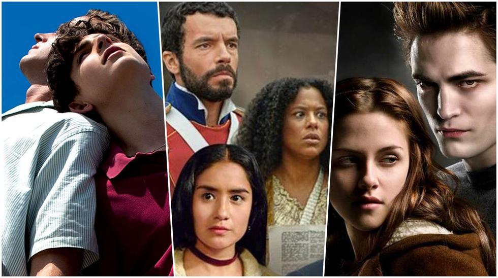 """""""Call me By Your Name"""", """"El último bastión"""" y """"Crepúsculo"""", algunos de los nuevos títulos que llegan a Netflix en febrero del 2021. Foto: Sony Pictures/ TV Perú/ Summit Entertainment."""