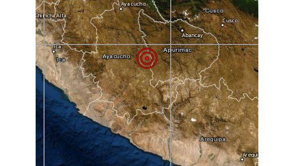 De acuerdo con el IGP, el epicentro de este movimiento telúrico se ubicó a 25 km al sureste del distrito de Soras, en la provincia de Sucre, en la región de Ayacucho, y a 109 kilómetros de profundidad. (Foto: IGP)