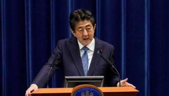 El primer ministro de Japón, Shinzo Abe, durante una conferencia de prensa el 18 de junio de 2020 en Tokio, Japón. (Foto de archivo: Reuters)