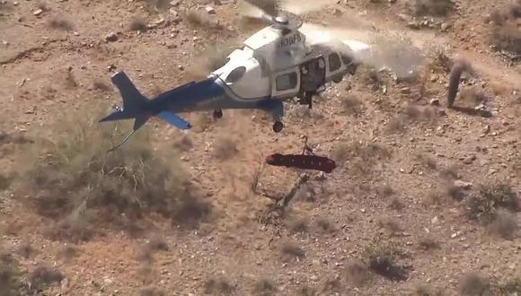 Afortunadamente, la excursionista sufrió solo mareos y náuseas por los incesantes giros que dio durante su rescate. (Foto: ABC15 Arizona en YouTube)