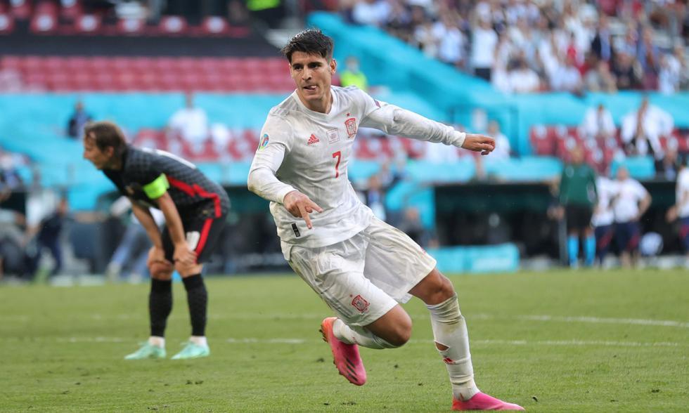 España vs. Croacia: las imágenes del partido en el Parken Stadion | Foto: REUTERS