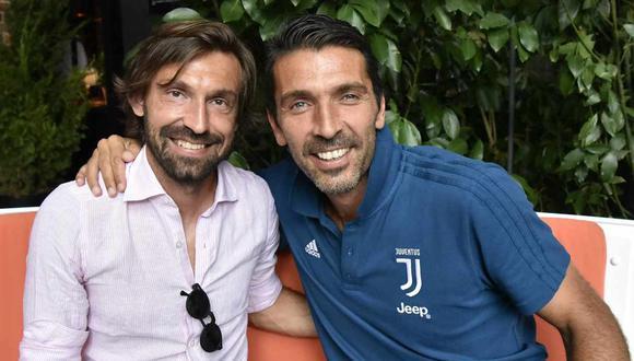 La bienvenida de Gianluigi Buffon a Andrea Pirlo, su nuevo entrenador en Juventus. (Foto: @gianluigibuffon)