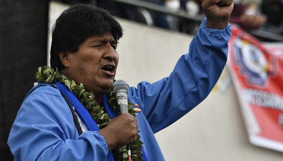 El ex presidente de Bolivia, Evo Morales, se refirió al resultado de las elecciones del 11 de abril en el Perú. (AIZAR RALDES / AFP).