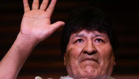 El expresidente de Bolivia Evo Morales ofrece una rueda de prensa en Buenos Aires, Argentina. (EFE/ Juan Ignacio Roncoroni).