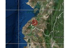 Sismo de magnitud 4,7 se reportó esta mañana en Tumbes