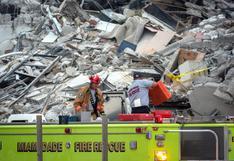 Derrumbe en Miami: bomberos escuchan sonidos debajo de los escombros de edificio Champlain Towers
