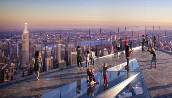 El mirador Edge estará a 100 pisos de altura / Foto: Hudson Yards, vía El Universal de México/ GDA