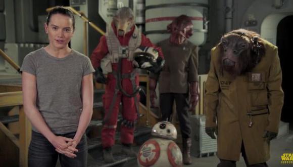 Daisy Ridley desea un feliz día de Star Wars en divertido video