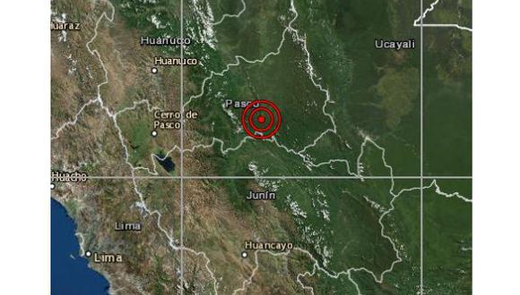 Las autoridades locales del Instituto Nacional de Defensa Civil (Indeci) aún no han reportado daños. (Foto: IGP)