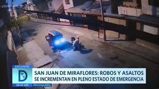 SJM: robos se incrementan en estado de emergencia