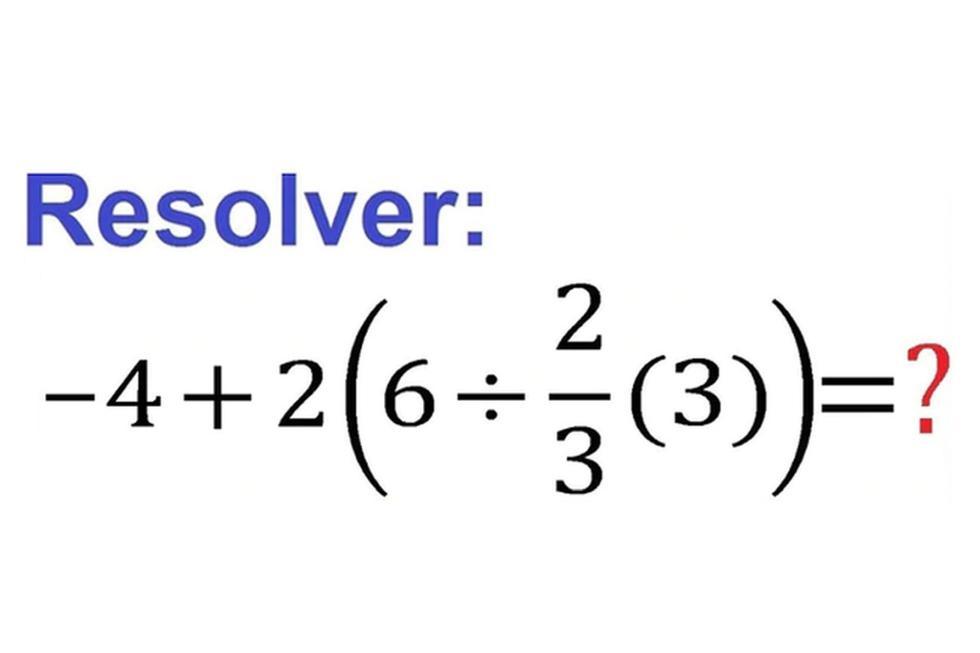 El ejercicio matemático ha dado la vuelta al mundo por ser complicado. (YouTube: PROFE RODOLFO YOUTUBER)