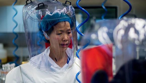 La viróloga china Shi Zhengli en su laboratorio en Wuhan. (Getty Images).