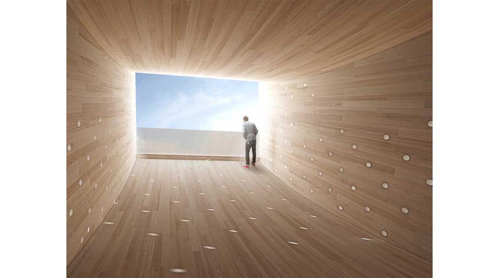 Planean instalar esta gran 'sonrisa' de madera en Londres - 3
