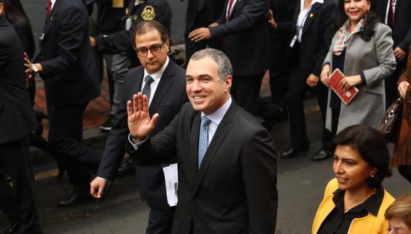 El primer ministro se presentó este martes ante el pleno por la cuestión de confianza. (Foto: Alessandro Currarino / El Comercio)