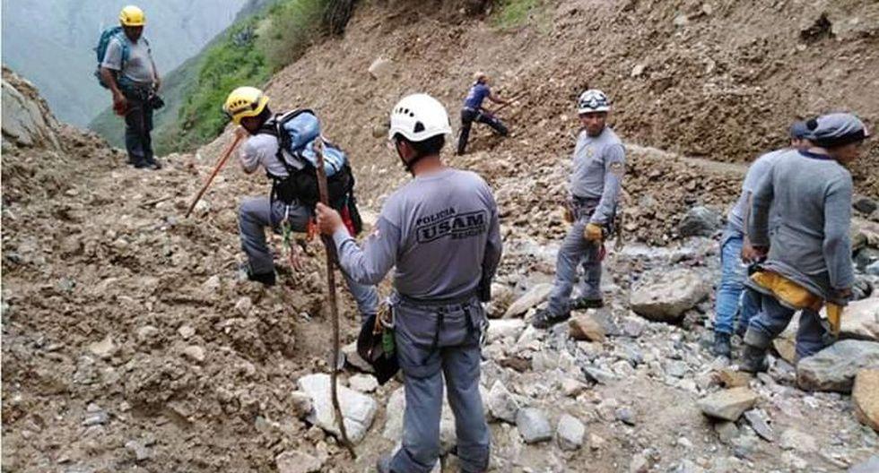 Huancavelica: reanudan búsqueda de maquinista sepultado por huaico. (Foto: Cortesía)