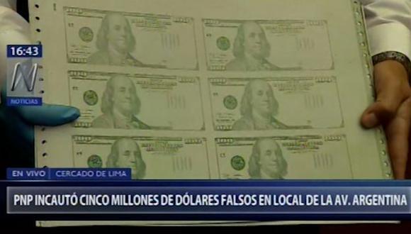De acuerdo a la PNP, Yamonaque Silva y Von López tienen antecedentes de haber sido intervenidos ya en circunstancias de que fabricaban dinero falso. (Foto: Captura Canal N)