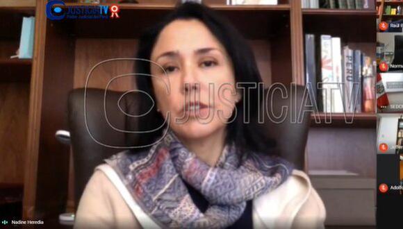 Geovana Mori solicitó 36 meses de prisión preventiva contra Heredia Alarcón y dos exministros, quienes son investigados por el Caso Gasoducto. (Imagen: JusticiaTV)