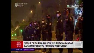 """PNP y Fuerzas Armadas lanzan operativo """"Impacto Nocturno"""""""