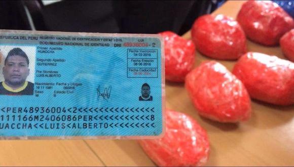 Tras su captura, Huaccha fue trasladado al Complejo Policial 15 de septiembre durante el periodo que duren las investigaciones. La policía investiga si el detenido forma parte de una red de micro comercialización de drogas (Foto: PNP)