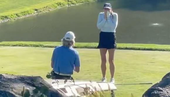 El partido de golf que se interrumpió en EE.UU. por una emotiva pedida de matrimonio. (Foto: Instagram)