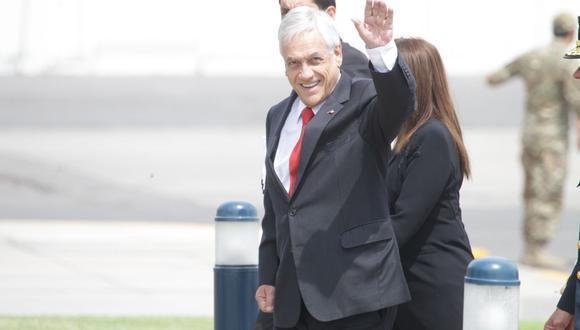 Sebastián Piñera, presidente de Chile, llegó el viernes al Perú para la VIII Cumbre de las Américas. (Dante Piaggio / El Comercio)