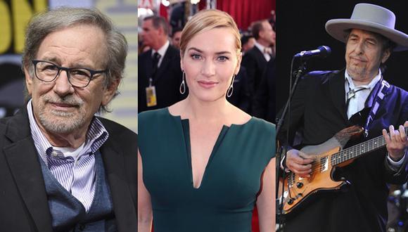 Steven Spielberg, Kate Winslet y Bob Dylan. (Foto: Agencias)