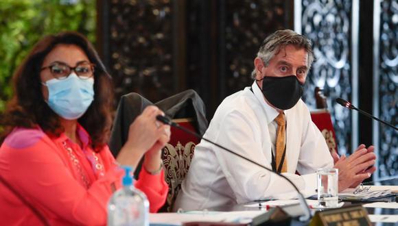El Consejo de Ministros defendió al presidente Francisco Sagasti de las aseveraciones de la excanciller Elizabeth Astete. (Foto: PCM)