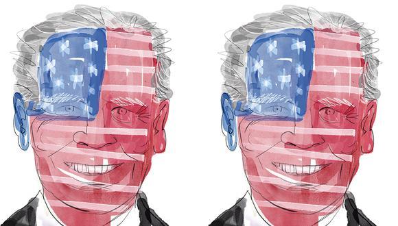 """""""Afortunadamente para los aliados de Estados Unidos, si bien las habilidades políticas de Biden se pondrán a prueba, la Constitución le ofrece al presidente más margen de acción en materia de política exterior que doméstica"""". (Ilustración: Giovanni Tazza)."""