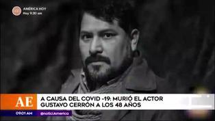Falleció actor Gustavo Cerrón víctima de la COVID-19
