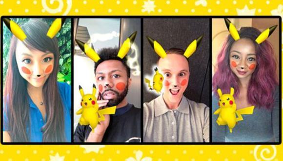Pikachu llegó al Snapchat. (Foto: snapchat)