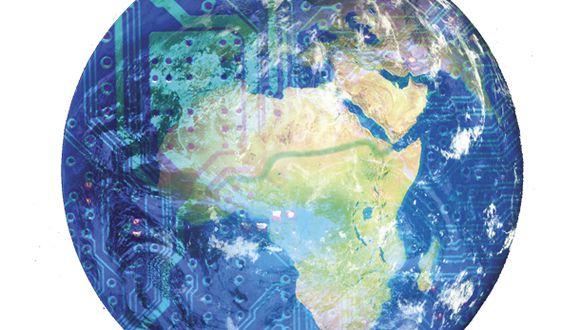 """""""El desarrollo tecnológico siempre va a producir fricciones, y es tarea de la política pública minimizar los conflictos sociales y enfrentar los desafíos maximizando la aplicación de la ciencia a la producción y al desarrollo urbano y rural"""". (Ilustración Giovanni Tazza)"""