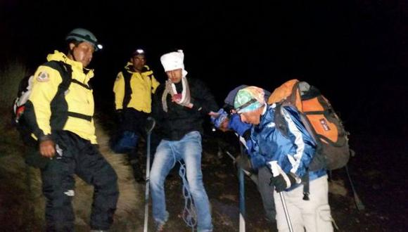Arequipa: se accidentó en el Misti y pidió ayuda vía WhatsApp