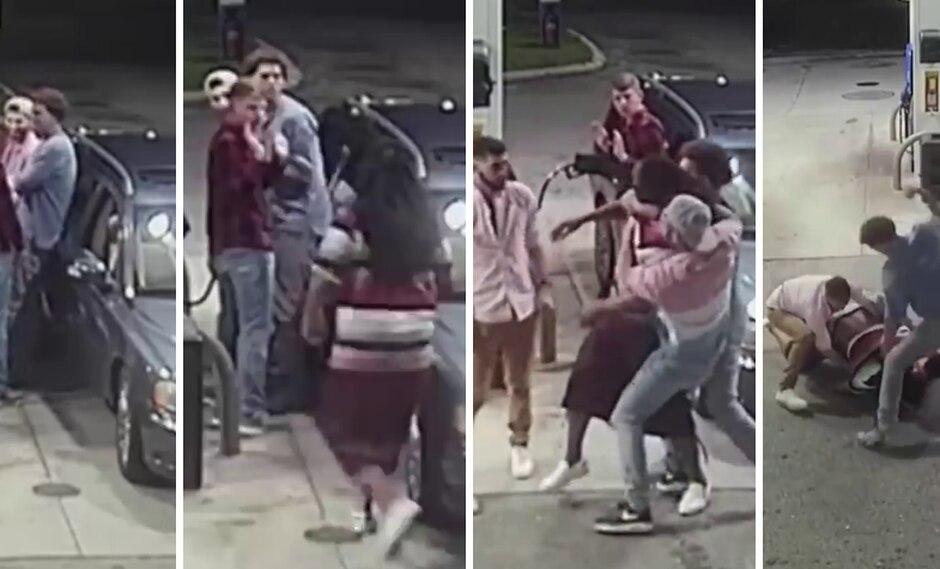 Un delincuente recibió su merecido tras asaltar a punta de pistola a cuatro jóvenes. (Foto: CBS News en YouTube)