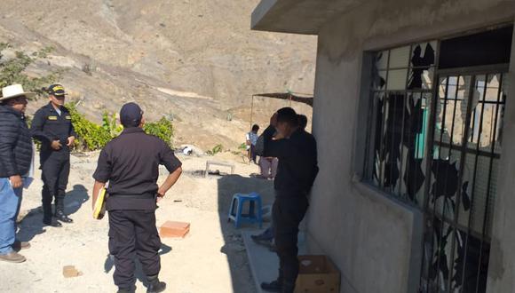 Alcalde de Yaután Nicolás García ha pedido que la Policía Nacional y el Ministerio Público inicien las investigaciones para identificar a los maleantes. (Foto: Cortesía / Harold Portella)