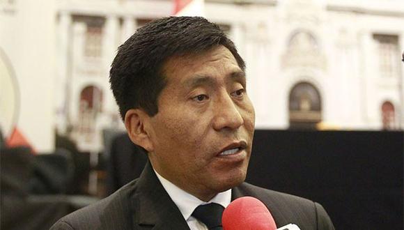 Congresista Moisés Mamani fue acusado de tocamientos indebidos por parte de la jefa de cabina de LATAM Airlines. (Foto: Agencia Andina)