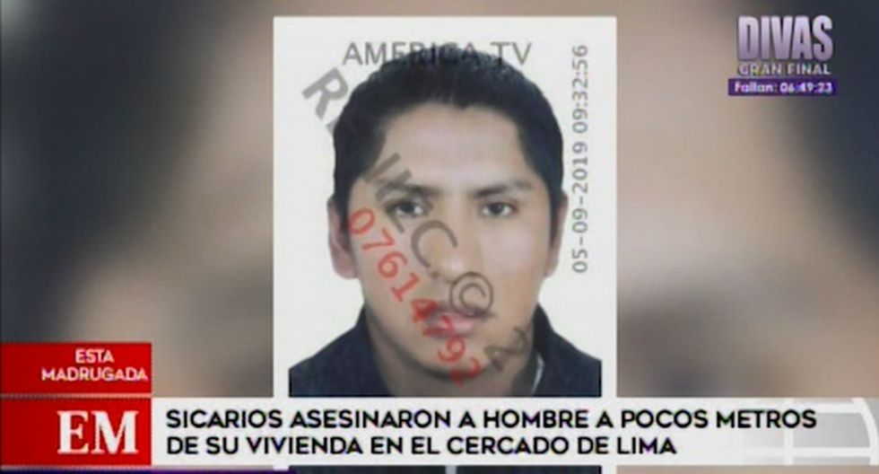 Ricardo Chavarría Arilus fue asesinado de tres balazos la noche del miércoles. (Captura: América Noticias)