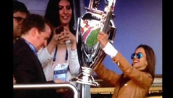 ¿Irina Shayk, la novia de Cristiano, levantó la Champions?