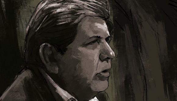 El 17 de abril del 2019, hace exactamente un año, Alan García se disparó un tiro para evitar su detención y apelar a lo que llamó el juicio de la historia. (Ilustración: El Comercio)
