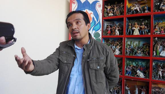Humberto Morales, excongresista del Frente Amplio, denuncia que fue suspendido para evitar su candidatura. (Foto: GEC)